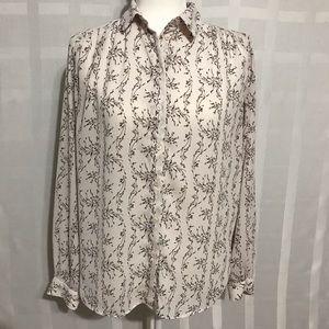 H&M floral button down blouse